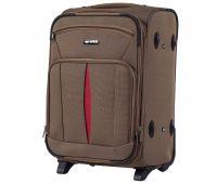 Тканевый чемодан Wings Barn Owl 1601 маленький S на 2 колесах коричневый