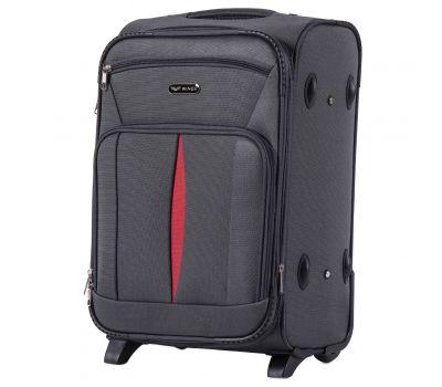 Тканевый чемодан Wings Barn Owl 1601 маленький S на 2 колесах серый