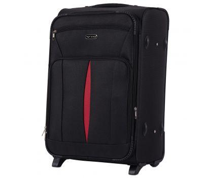 Тканевый чемодан Wings Barn Owl 1601 средний M на 2 колесах черный