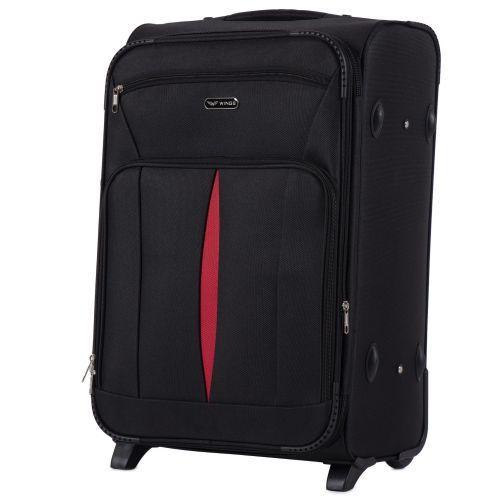 Набор тканевых чемоданов Wings Barn Owl 1601 3 штуки на 2 колесах черный