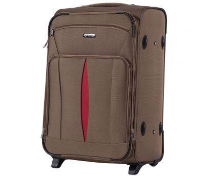 Тканевый чемодан Wings Barn Owl 1601 средний M на 2 колесах коричневый