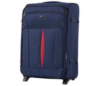 Тканевый чемодан Wings Barn Owl 1601 средний M на 2 колесах синий