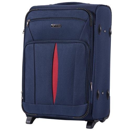 Набор тканевых чемоданов Wings Barn Owl 1601 3 штуки на 2 колесах синий