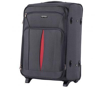 Тканевый чемодан Wings Barn Owl 1601 средний M на 2 колесах серый