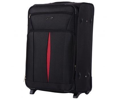 Тканевый чемодан Wings Barn Owl 1601 большой L на 2 колесах черный