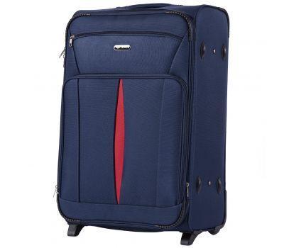 Тканевый чемодан Wings Barn Owl 1601 большой L на 2 колесах синий