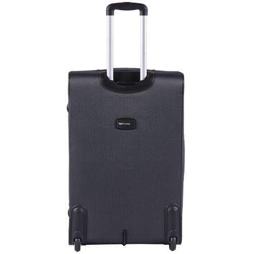 Тканевый чемодан Wings Barn Owl 1601 большой L на 2 колесах серый