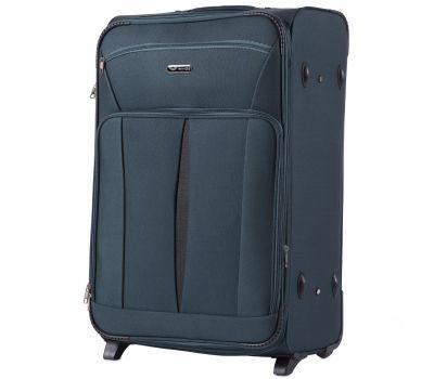 Тканевый чемодан Wings Barn Owl 1601 большой L на 2 колесах изумрудный