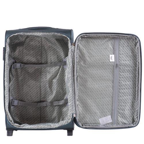Тканевый чемодан Wings Barn Owl 1601 маленький S на 2 колесах изумрудный