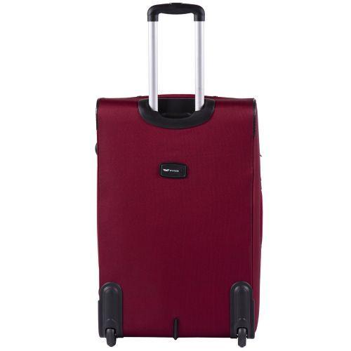 Тканевый чемодан Wings Barn Owl 1601 большой L на 2 колесах красный