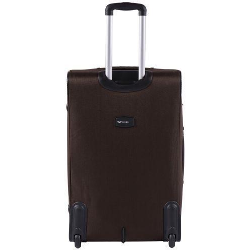 Тканевый чемодан Wings Barn Owl 1601 большой L на 2 колесах кофейный
