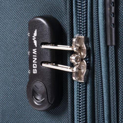 Тканевый чемодан Wings Barn Owl 1601 большой L на 2 колесах коричневый