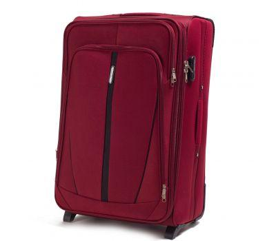 Тканевый чемодан Wings Buzzard 1706 большой на 2 колесах красный