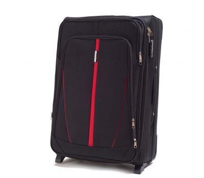 Тканевый чемодан Wings Buzzard 1706 большой на 2 колесах черный