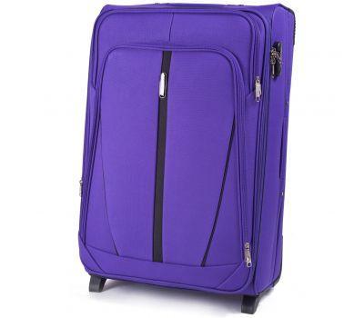 Тканевый чемодан Wings Buzzard 1706 большой на 2 колесах фиолетовый