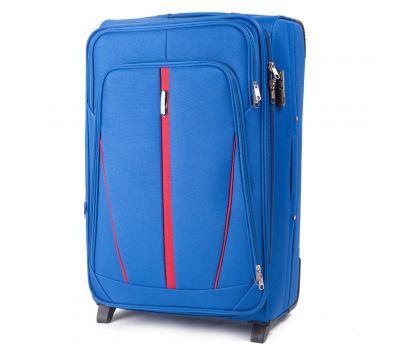 Тканевый чемодан Wings Buzzard 1706 большой на 2 колесах голубой