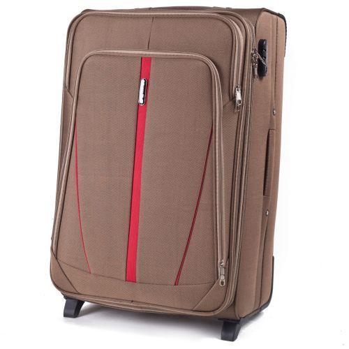 Набор тканевых чемоданов Wings Buzzard 1706 3 штуки на 2 колесах коричневый