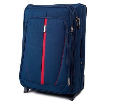 Тканевый чемодан Wings Buzzard 1706 большой на 2 колесах синий