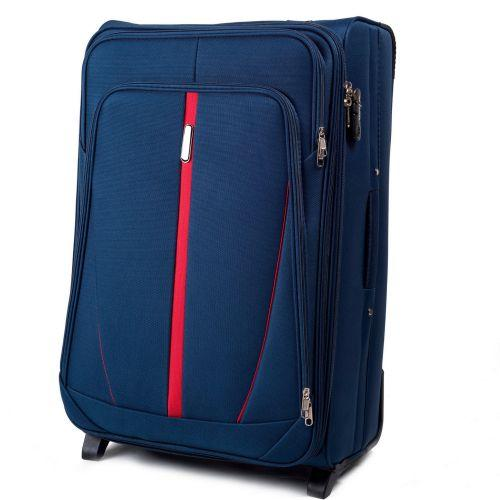 Набор тканевых чемоданов Wings Buzzard 1706 3 штуки на 2 колесах синий