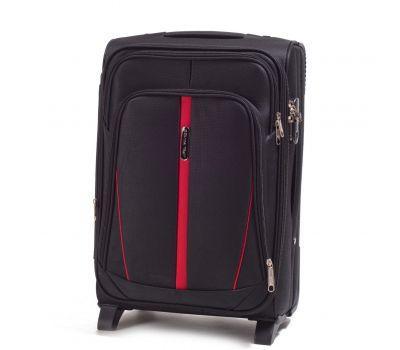 Тканевый чемодан Wings Buzzard 1706 маленький на 2 колесах черный