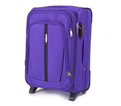 Тканевый чемодан Wings Buzzard 1706 маленький на 2 колесах фиолетовый