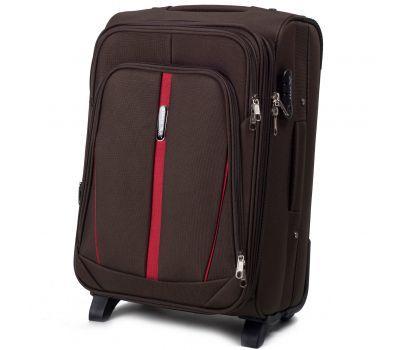 Тканевый чемодан Wings Buzzard 1706 маленький на 2 колесах кофейный