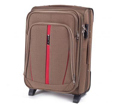 Тканевый чемодан Wings Buzzard 1706 маленький на 2 колесах коричневый