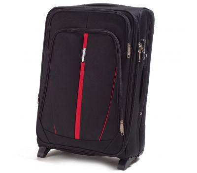 Тканевый чемодан Wings Buzzard 1706 средний на 2 колесах черный