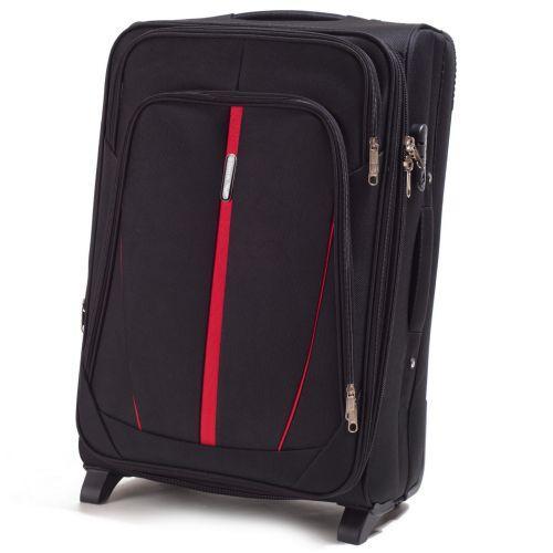 Набор тканевых чемоданов Wings Buzzard 1706 3 штуки на 2 колесах черный
