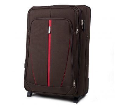 Тканевый чемодан Wings Buzzard 1706 средний на 2 колесах кофейный