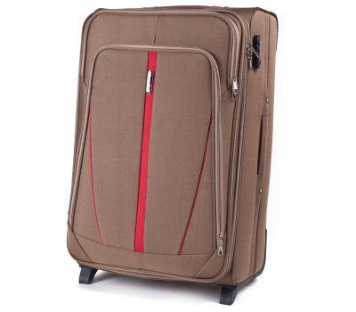 Тканевый чемодан Wings Buzzard 1706 средний на 2 колесах коричневый