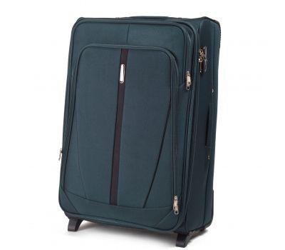 Тканевый чемодан Wings Buzzard 1706 средний на 2 колесах изумрудный