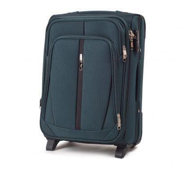 Тканевый чемодан Wings Buzzard 1706 маленький на 2 колесах изумрудный