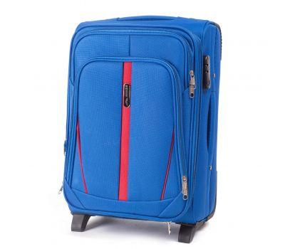 Тканевый чемодан Wings Buzzard 1706 маленький на 2 колесах голубой