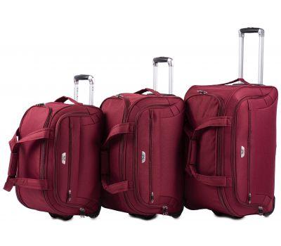 Набор дорожных сумок на 2 колесах Wings C1109 бордовый