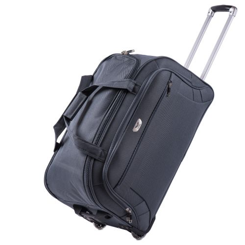 Набор дорожных сумок на 2 колесах Wings C1109 серый