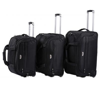 Набор дорожных сумок на 2 колесах Wings C1109 черный