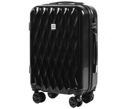 Поликарбонатный чемодан Wings Golden 190 маленький черный