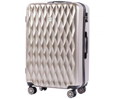 Поликарбонатный чемодан Wings Golden 190 большой бронзовый