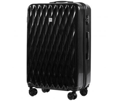 Поликарбонатный чемодан Wings Golden 190 большой черный