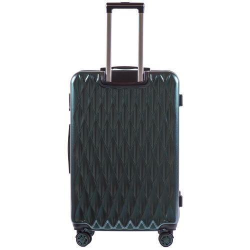Поликарбонатный чемодан Wings Golden 190 большой изумрудный
