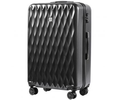 Поликарбонатный чемодан Wings Golden 190 большой серый