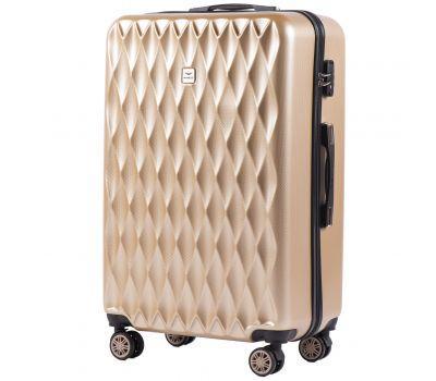 Поликарбонатный чемодан Wings Golden 190 большой шампань