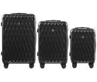 Набор чемоданов из поликарбоната Wings Golden 190 3 штуки серый