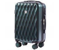 Поликарбонатный чемодан Wings Golden 190 маленький изумрудный