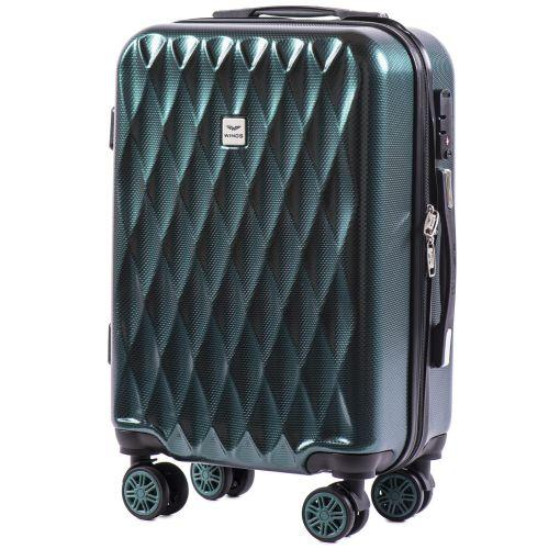 Набор чемоданов из поликарбоната Wings Golden 190 3 штуки изумрудный