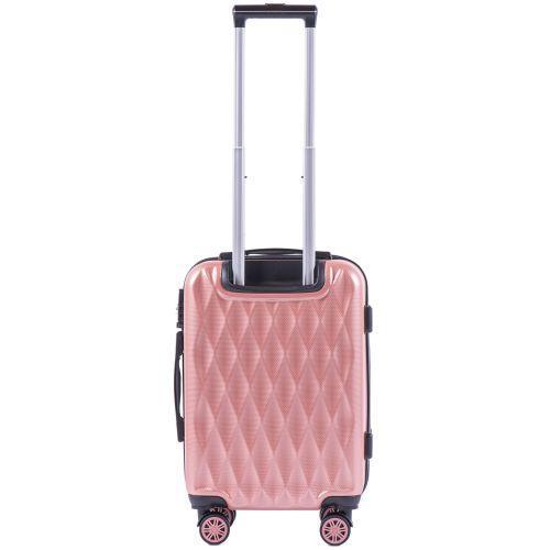 Поликарбонатный чемодан Wings Golden 190 маленький розовый