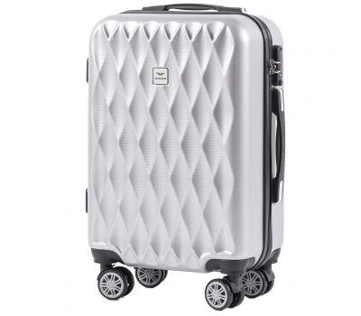 Поликарбонатный чемодан Wings Golden 190 маленький серебряный