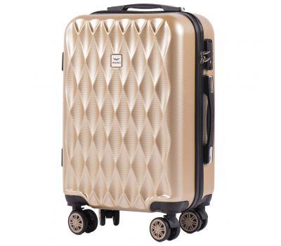 Поликарбонатный чемодан Wings Golden 190 маленький шампань