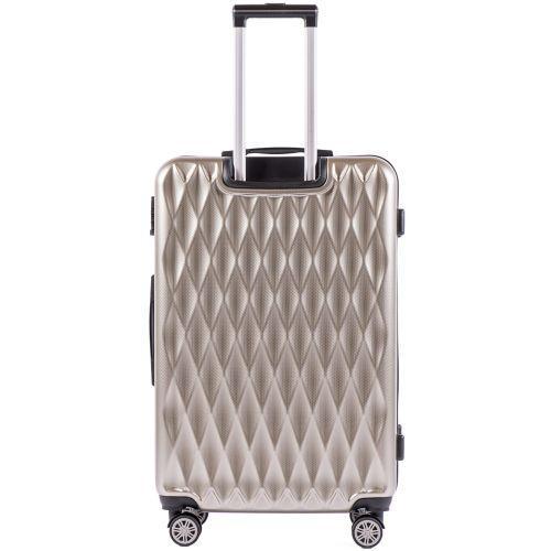 Поликарбонатный чемодан Wings Golden 190 средний бронзовый